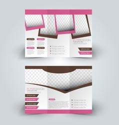 Brochure design template vector image