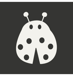 Flat in black and white mobile application ladybug vector