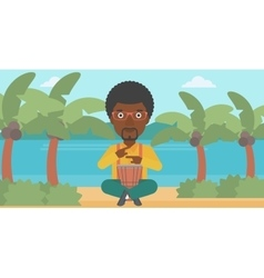 Man playing tomtom vector