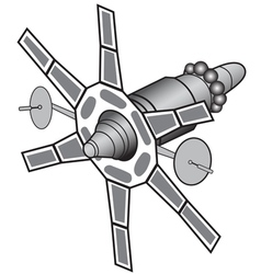 Space communications satellite vector