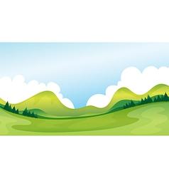 A green landscape vector image vector image
