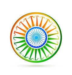 Beautiful creative indian flag design vector