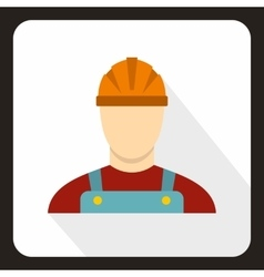 Builder icon flat style vector