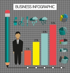 Business infographic with icons person pencil and vector