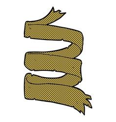 Comic cartoon old scroll vector