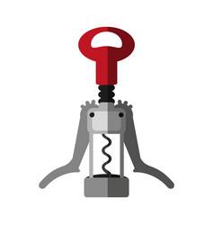 cork wine bottle opener vector image