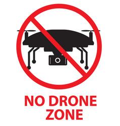 Drone flights prohibited in thai area no drone vector