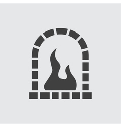 Fireplace icon vector image