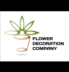 Florist decoration vector