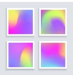 Fluid colors backgrounds set applicable for vector