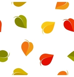 Isolated abstract colorful leaves background vector image vector image