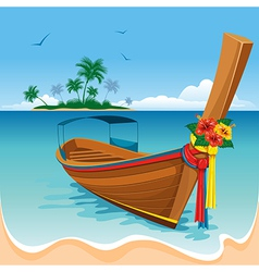 Long tail boat vector image