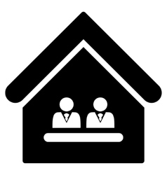 Management office flat icon vector