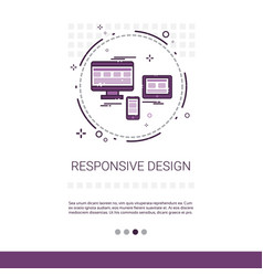 Responsive design phone tablet desktop device vector