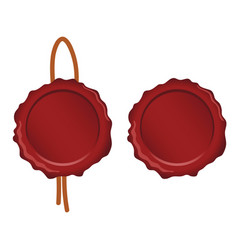 Seal wax set in red color on white background vector
