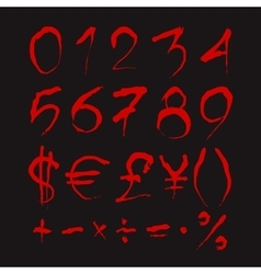 Set of Bloody numbers vector image