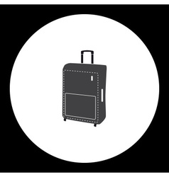Simple travelling case isolated gray icon eps10 vector