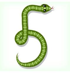 Snake font Digit 5 vector image