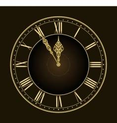stylish clock vector image