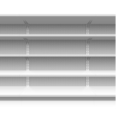 Supermarket shelves vector image vector image