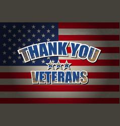 Thank you veterans vector