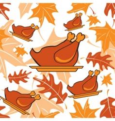 turkey pattern vector image vector image