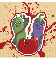 vegetable rebels vector image vector image