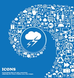 Weather icon nice set of beautiful icons twisted vector