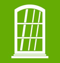 white narrow window icon green vector image