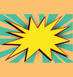 yellow comic burst explosion pop art vector image