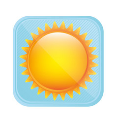 Yellow light sun icon vector