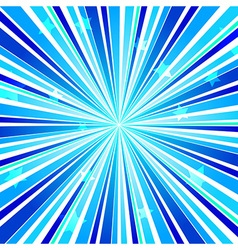 Abstract star burst ray background blue vector