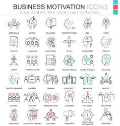 Business motivation ultra modern color vector