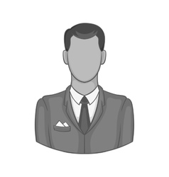 Businessman icon black monochrome style vector
