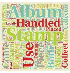 Important facts for the stamp collector text vector