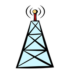 Cell phone tower icon icon cartoon vector