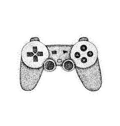 Dotwork gaming console vector