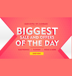 Biggest sale offer banner template for brand vector