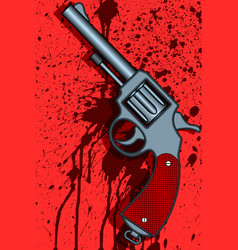 Revolver on abstract background vector