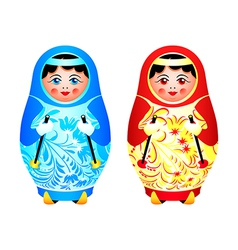 Matryoshka skiing vector