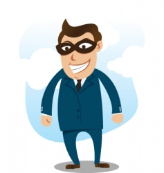 Robber wearing suit vector