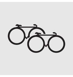 Minimalistic bicycle icon vector image