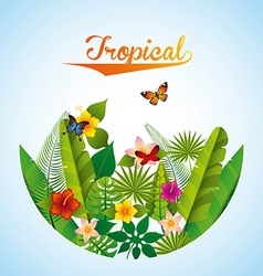 Tropical nature vector