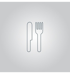 Fork and knife icon vector