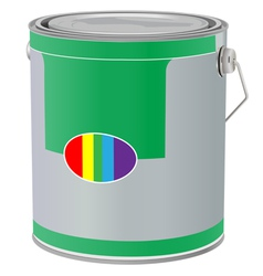realistic paint can on white background vector image