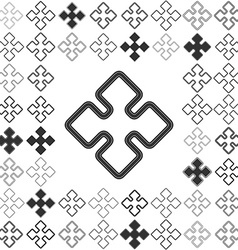Line geometric icon design set vector
