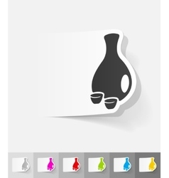 Realistic design element sake vector