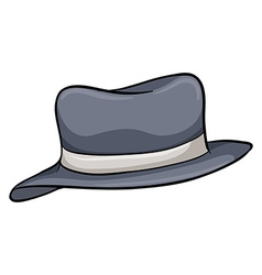 A gray hat vector image vector image