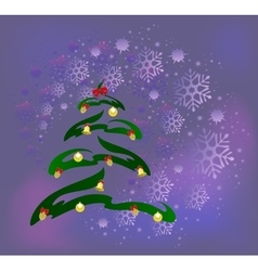 Abstract Christmas tree with golden cones balls vector image vector image