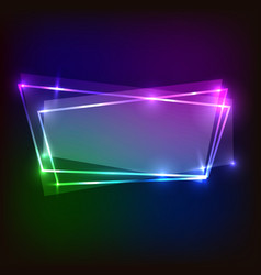 Abstract colorful banner neon background vector